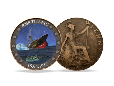 Great Britain - 1 Penny - Titanic in color