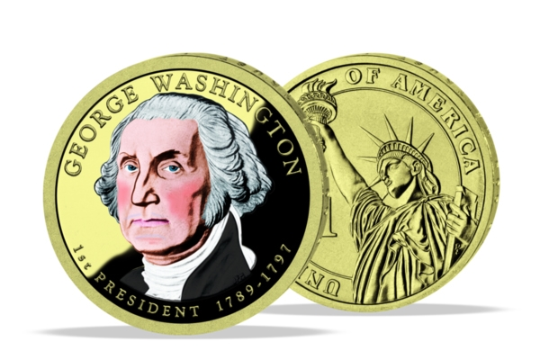 United States - George Washington Dollar - in color