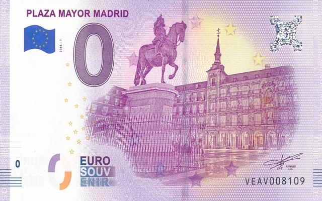 0 Euro Souvenir Madrid - Plaza Mayor