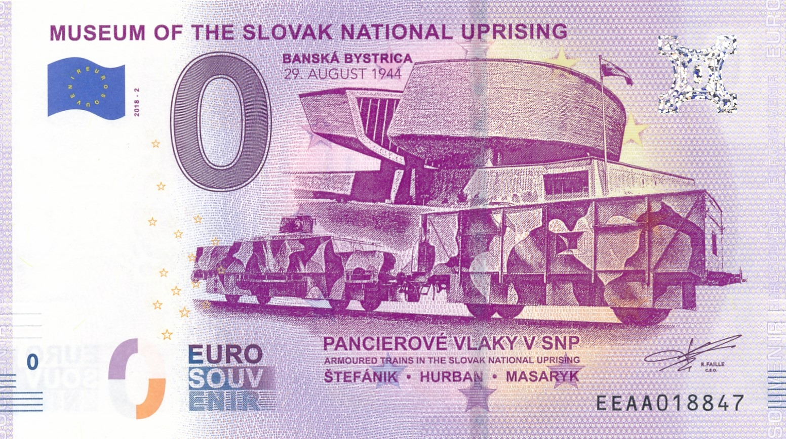 0 Euro Souvenir Museum of the Slovak National Uprising 2018-2