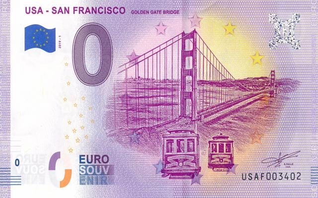 0 Euro Souvenir USA - San Francisco