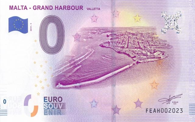 0 Euro Souvenir Malta - Grand Harbour
