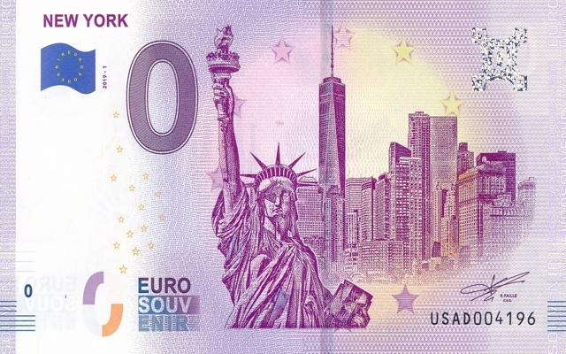 0 Euro Souvenir New York