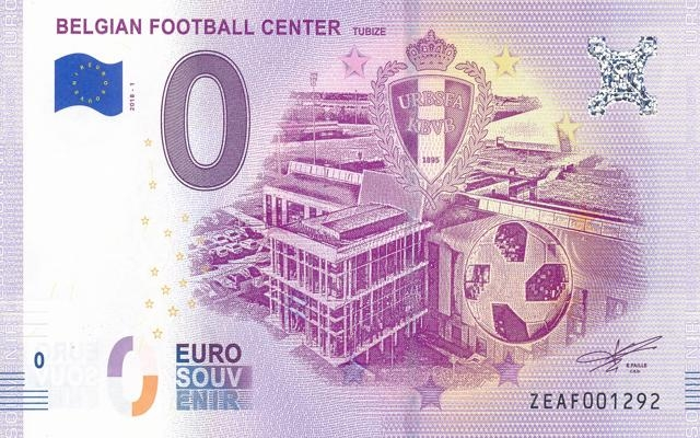 0 Euro Souvenir Belgian Football Center Tubize