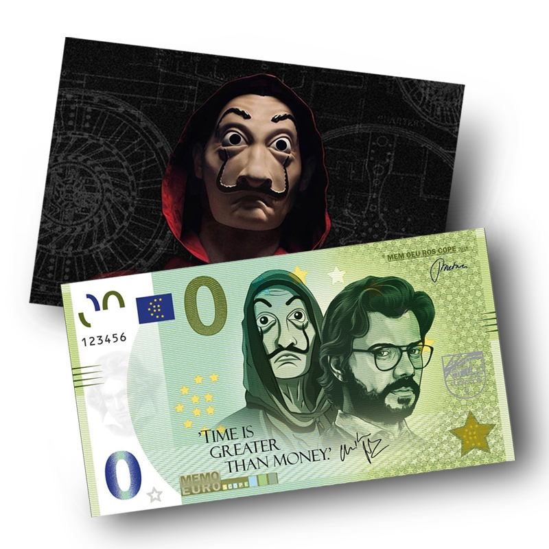 0 Memo Euro Souvenir Time is greater than Money met giftcard