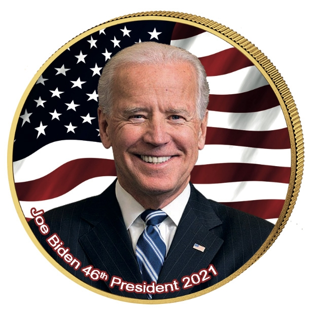 United States - Joe Biden Quarter - Colored and Gold Plated